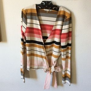Billabong Sweaters - NWT Billabong Striped Thermal Wrap Cardigan